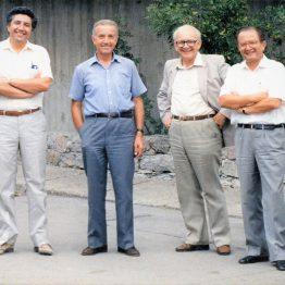 1988 ODTÜ sosyal bina önü (Yalçın Hoca)